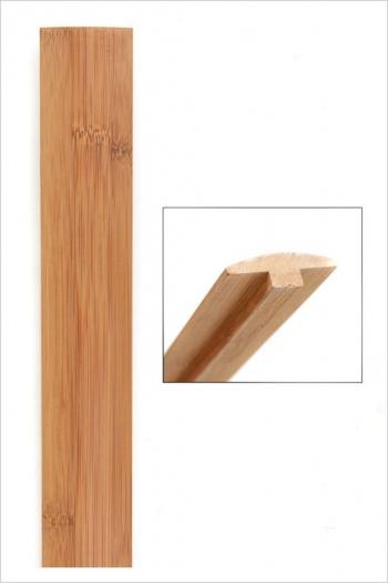 Barre de seuil bambou horizontal ambre