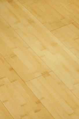 Parquet bambou massif horizontal naturel