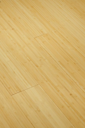 Parquet bambou massif vertical naturel