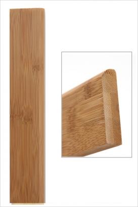 Plinthe bambou vertical ambre 88mm