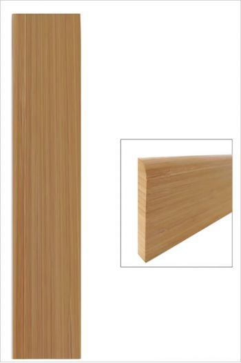 Plinthe bambou large vertical ambre