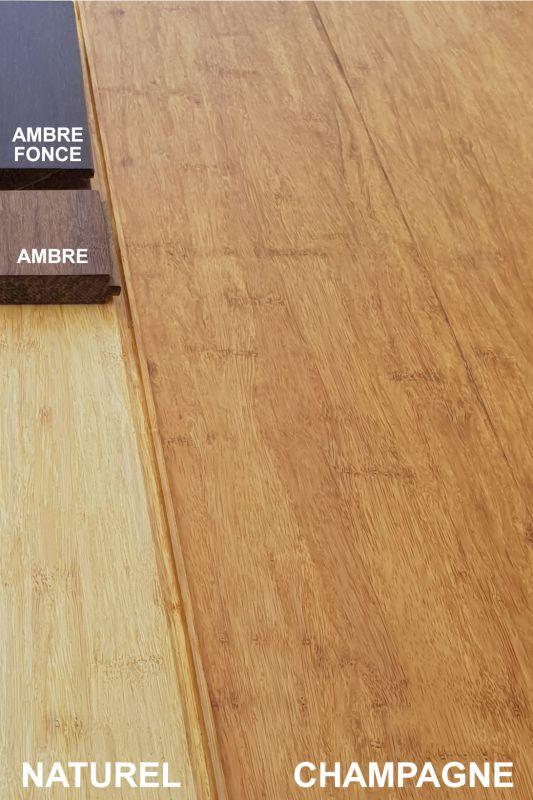 parquet bambou massif large densifi champagne ecoligne. Black Bedroom Furniture Sets. Home Design Ideas