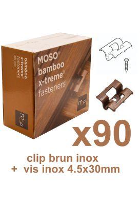 Clip inox terrasse bambou Xtrem