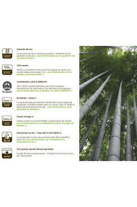 Lame terrasse 100% bambou densifié CAFÉ